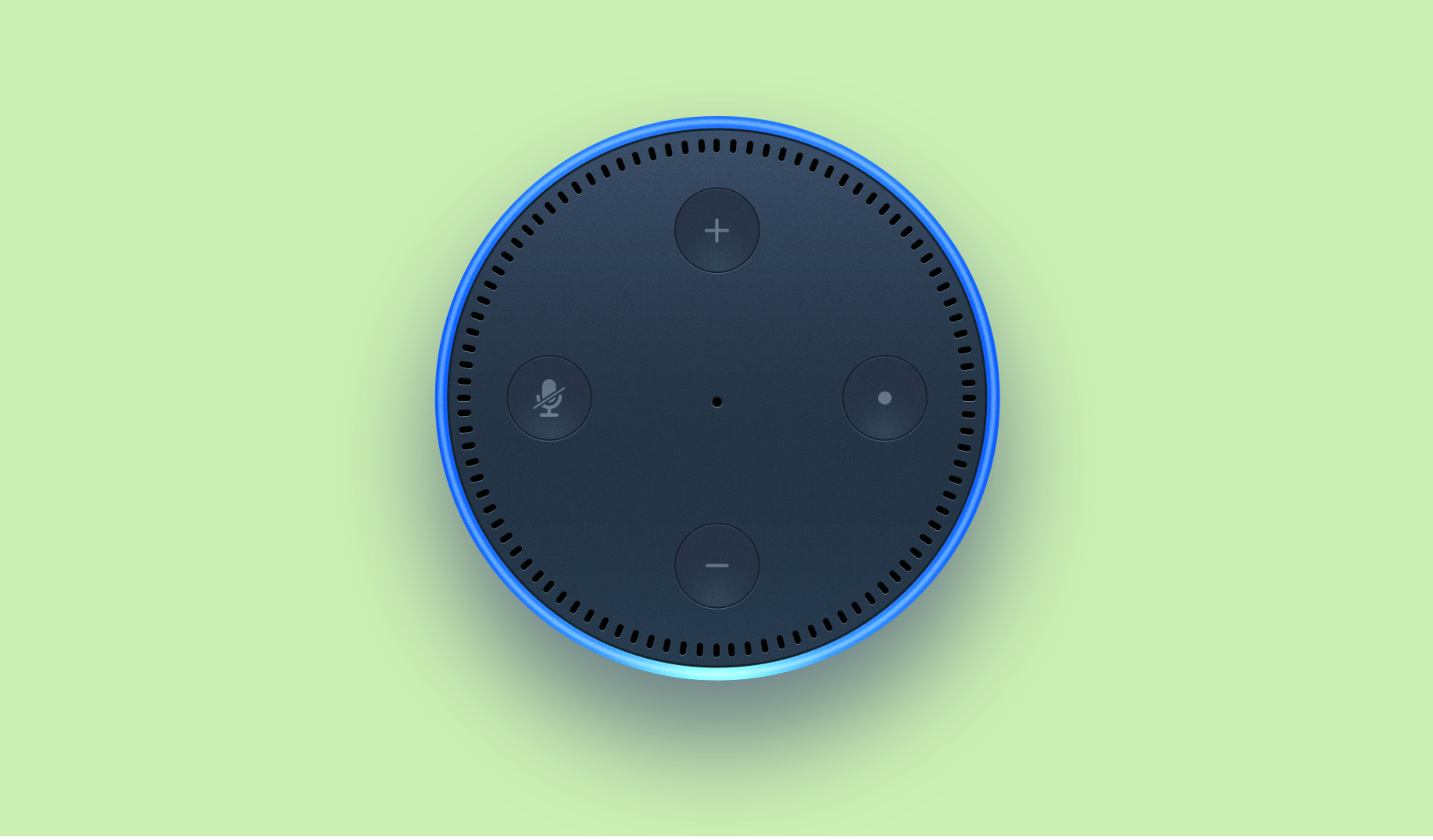 A picture of an Amazon Alexa device.